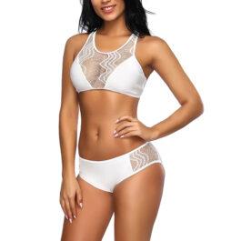 Lace Bikini Swimsuits with Adjustable Back Straps